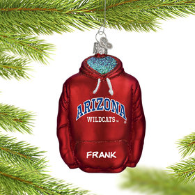 Personalized University of Arizona Hoodie Sweatshirt Christmas Ornament