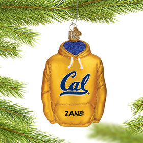 Personalized University of California Berkeley Hoodie Sweatshirt Christmas Ornament