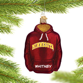 Personalized University of Minnesota Hoodie Sweatshirt Christmas Ornament