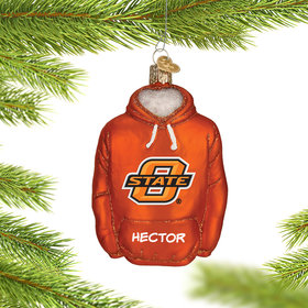 Personalized Oklahoma State University Hoodie Sweatshirt Christmas Ornament