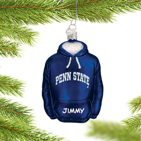 Personalized Pennsylvania State University Hoodie Sweatshirt Christmas Ornament