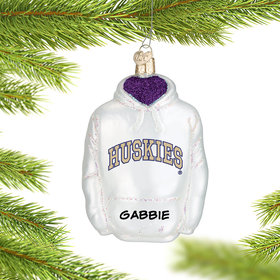 Personalized University of Washington Hoodie Sweatshirt Christmas Ornament