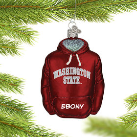 Personalized Washington State University Hoodie Sweatshirt Christmas Ornament