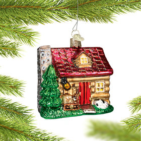 Personalized Lake Cabin Christmas Ornament