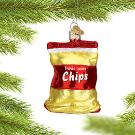 Personalized Bag of Chips Christmas Ornament