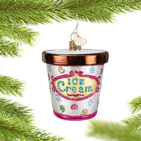 Personalized Ice Cream Carton Christmas Ornament