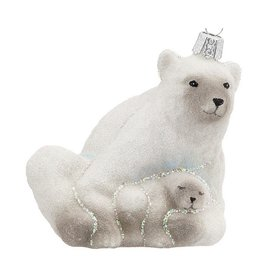 Personalized Polar Bear with Cub Christmas Ornament