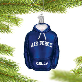 Personalized Air Force Hoodie Sweatshirt Christmas Ornament