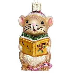 Personalized Caroling Mouse Christmas Ornament