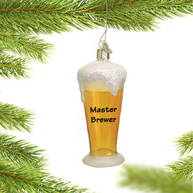Personalized Pilsner Beer Glass Christmas Ornament