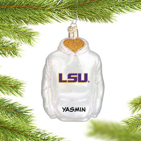 Personalized Louisiana State University (LSU) Hoodie Sweatshirt Christmas Ornament
