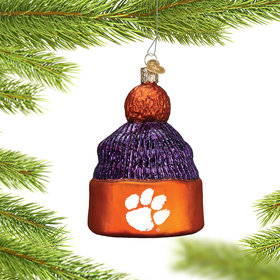 Personalized Clemson University Beanie Christmas Ornament