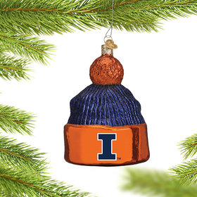 Personalized University of Illinois Beanie Christmas Ornament