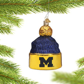 Personalized University of Michigan Beanie Christmas Ornament