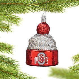 Personalized Ohio State University Beanie Christmas Ornament