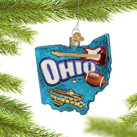Personalized State of Ohio Outline Christmas Ornament