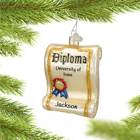 Personalized Diploma Christmas Ornament