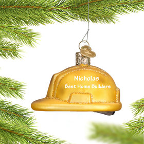 Personalized Construction Helmet Christmas Ornament