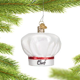 Personalized Chef's Hat Christmas Ornament
