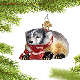 Personalized Badger Christmas Ornament