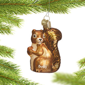 Personalized Backyard Squirrel Christmas Ornament