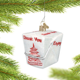 Personalized Chinese Food Takeout Container Christmas Ornament