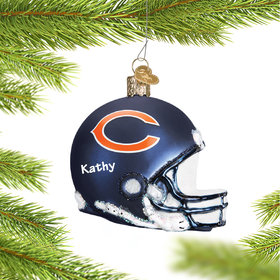 Personalized Chicago Bears NFL Helmet Christmas Ornament