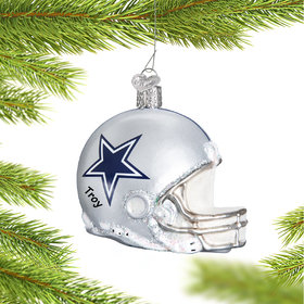 Personalized Dallas Cowboys NFL Helmet Christmas Ornament