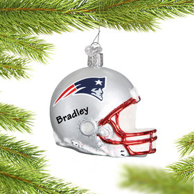 Personalized New England Patriots NFL Helmet Christmas Ornament