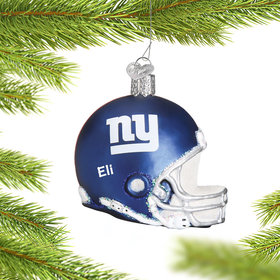 Personalized New York Giants NFL Helmet Christmas Ornament