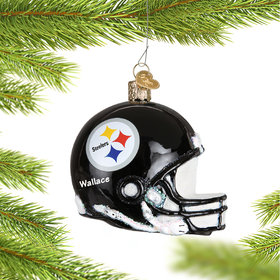 Personalized Pittsburgh Steelers NFL Helmet Christmas Ornament