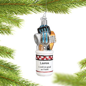 Personalized Kitchen Utensils Christmas Ornament