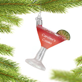 Personalized Cosmopolitan Cocktail Christmas Ornament