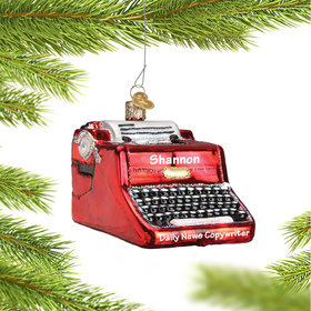 Personalized Typewriter Christmas Ornament
