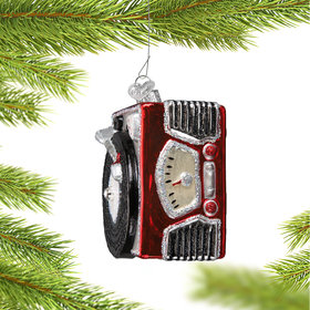 Personalized Record Player Christmas Ornament