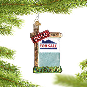 Personalized Realty Sign Christmas Ornament