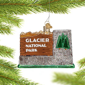 Personalized Glacier National Park Christmas Ornament