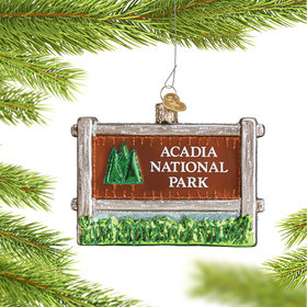 Personalized Acadia National Park Christmas Ornament
