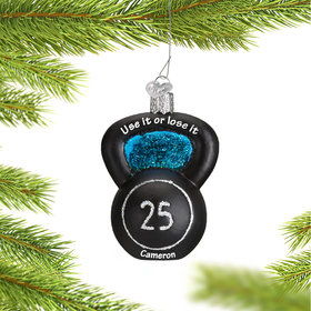 Personalized Kettlebell Weight Christmas Ornament