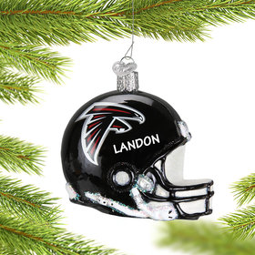 Personalized Atlanta Falcons NFL Helmet Christmas Ornament