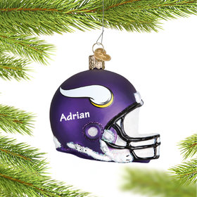 Personalized Minnesota Vikings NFL Helmet Christmas Ornament