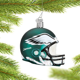 Personalized Philadelphia Eagles NFL Helmet Christmas Ornament