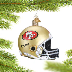 Personalized San Francisco 49ers NFL Helmet Christmas Ornament