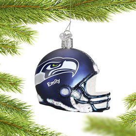 Personalized Seattle Seahawks NFL Helmet Christmas Ornament