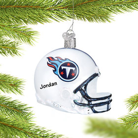 Personalized Tennessee Titans NFL Helmet Christmas Ornament