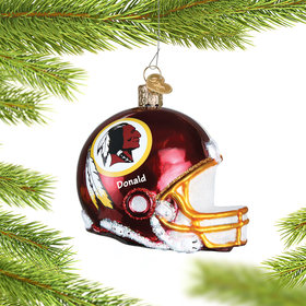 Personalized Washington Redskins NFL Helmet Christmas Ornament