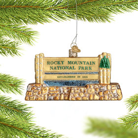 Personalized Rocky Mountain National Park Christmas Ornament