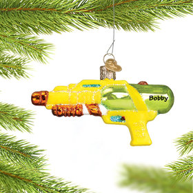 Personalized Squirt Gun Christmas Ornament