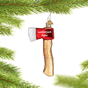 Personalized Axe Christmas Ornament