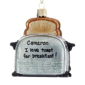 Personalized Retro Toaster Christmas Ornament